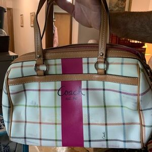 Coach Plaid Purse